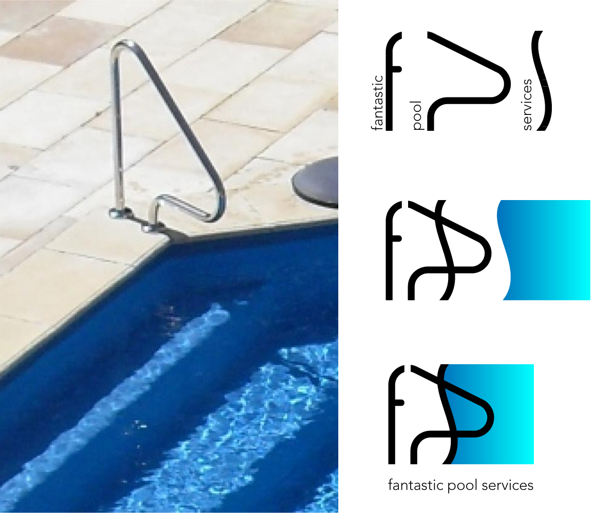Logo design for fantastic pool services by papaukke for Pool design aufkleber