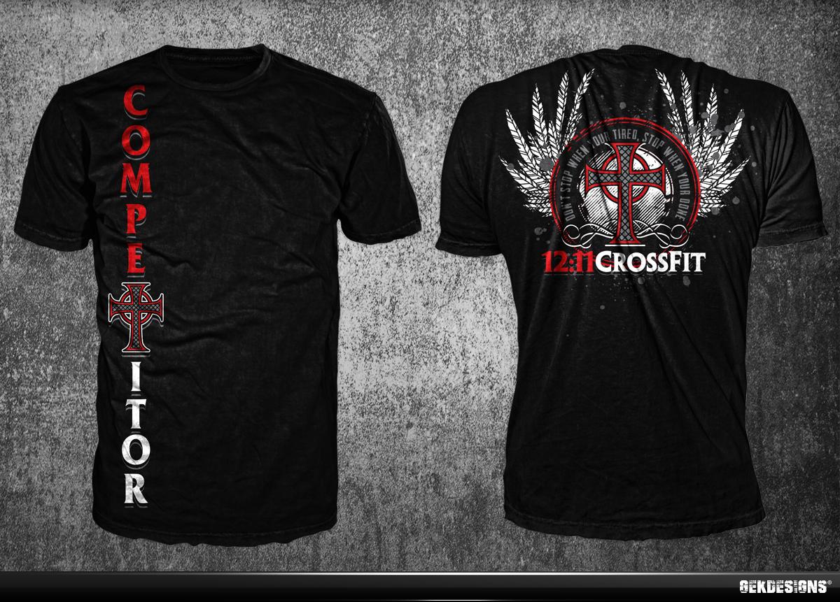 T shirt design for clinton horinek by gek design 3226084 for Crossfit open t shirt