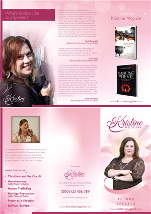 Brochure Design by Theziners - Tri-Fold Brochure for Christian Author and Speaker