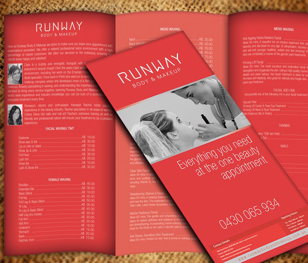 beauty salon brochure design for a company by vega designs design
