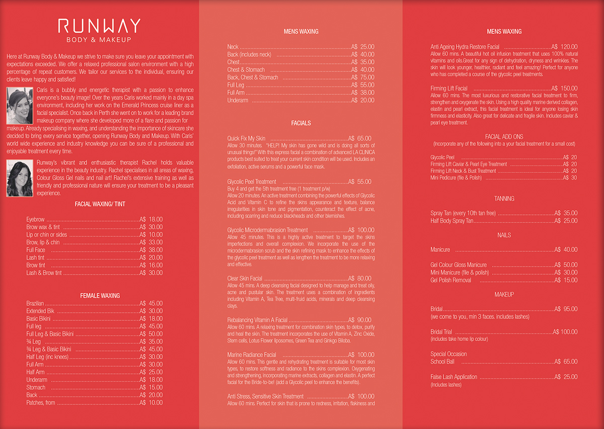 Brochure design for caris murphy by vega designs design for Brochure design pricing