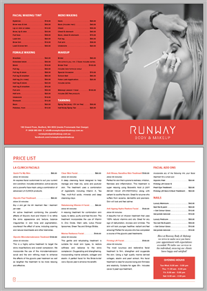 Beauty Salon Brochure Design for a Company by Beare | Design #3255400