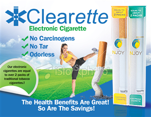Signage Design job – Electronic Cigarette company needs Signage Design – Winning design by JB