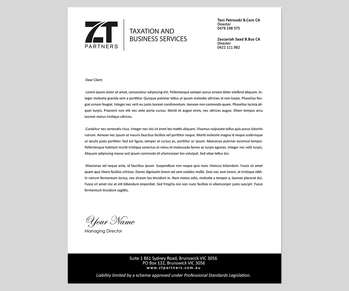 55 Professional Letterhead Designs For A Business In