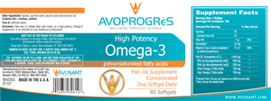 Label Design by Giovanni - Avosant Nutraceuticals Product Label