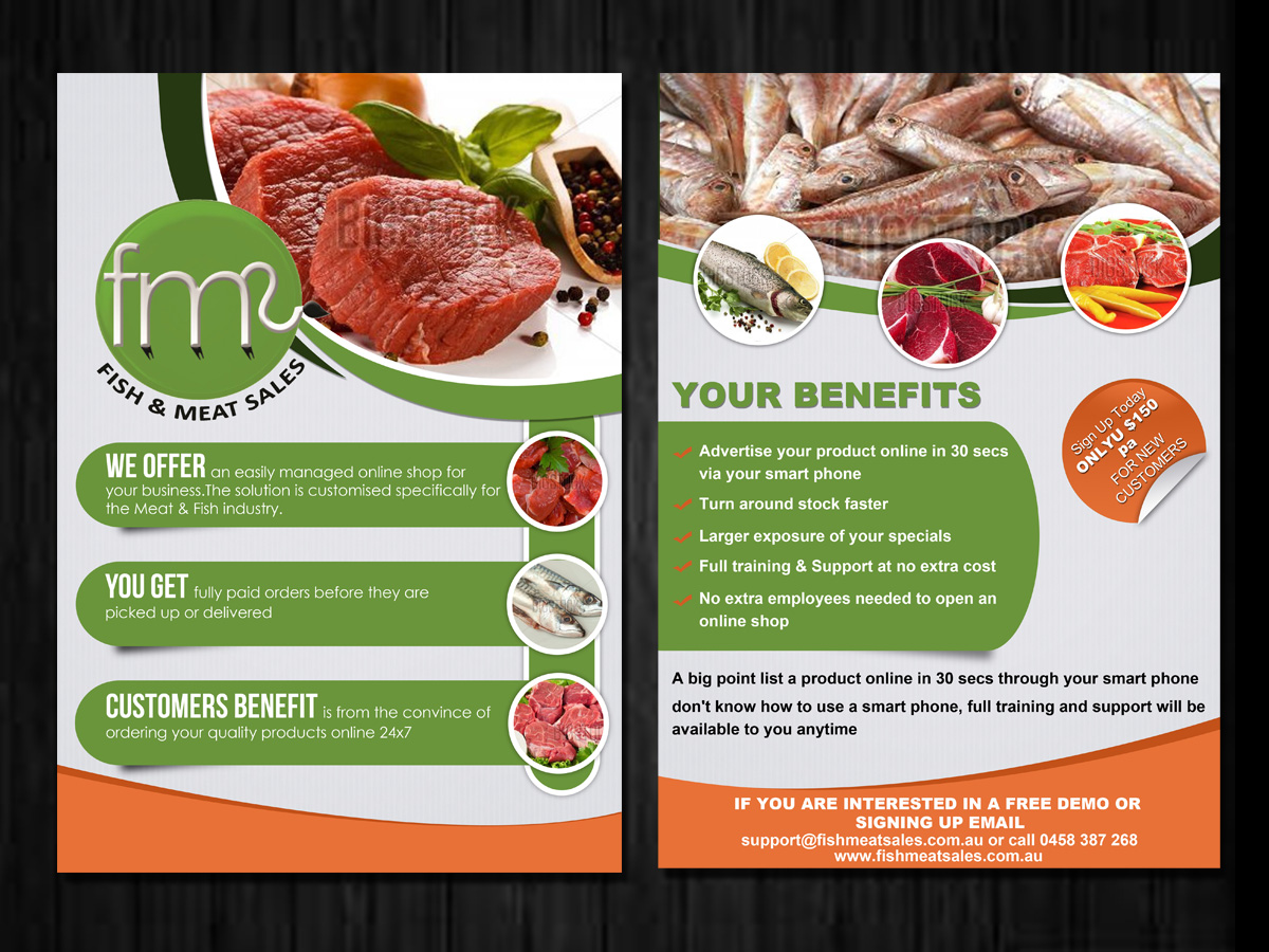 marketing flyer design for a company by esolz technologies design