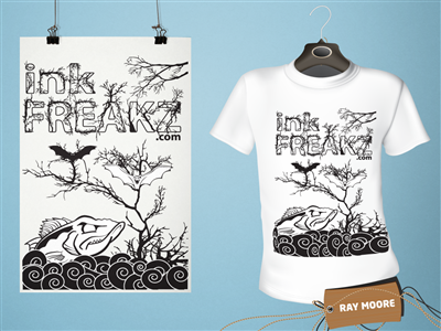 Tri Fold Beach T Shirt Design Template 72778