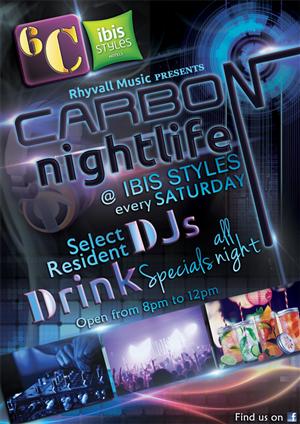 Poster Design by SR Graphics - Carbon Nightlife Poster Design