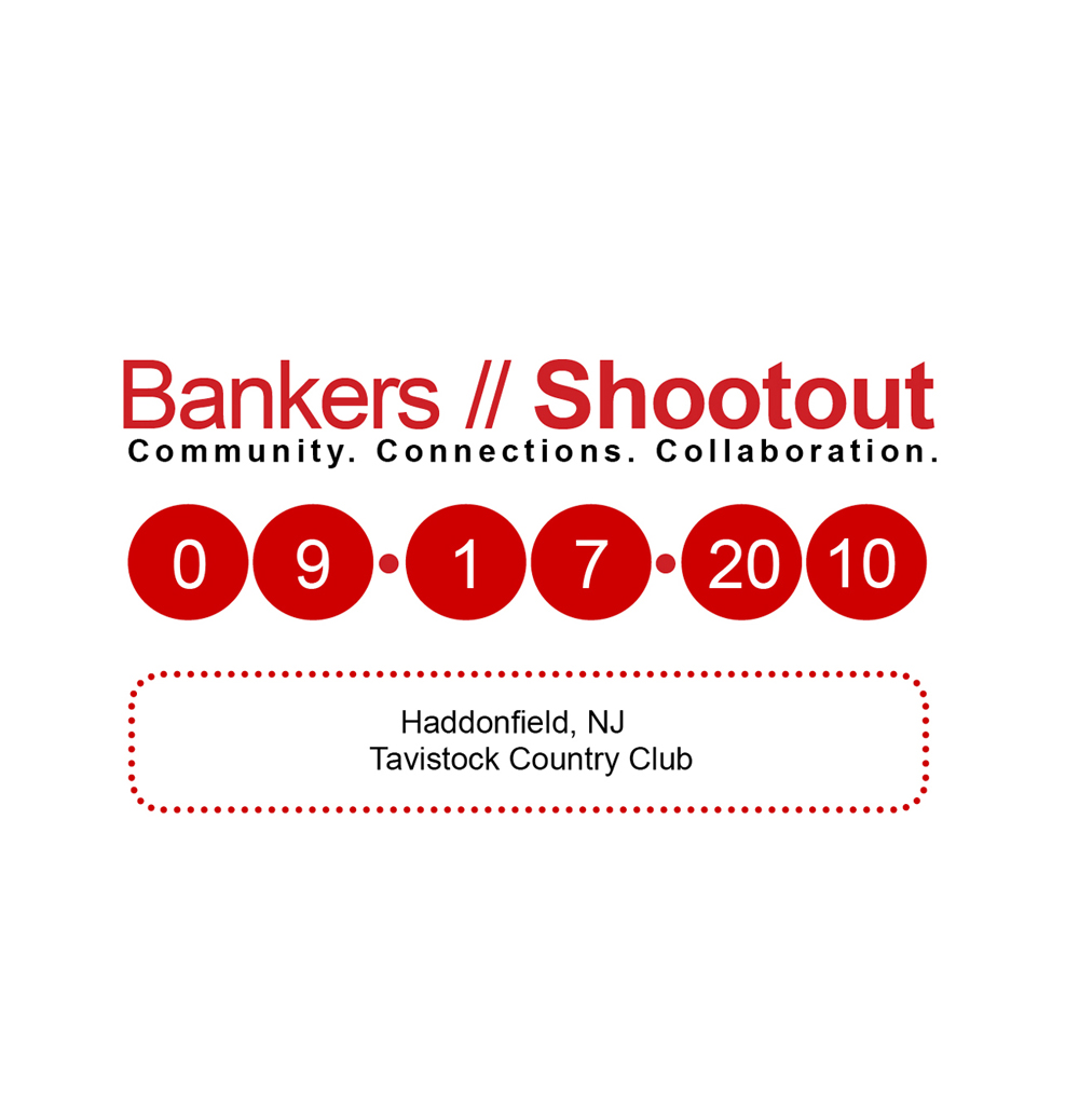 Brochure Design by Rachel McCloy for Banker's Shootout - Edison NJ 2010 - Design #81433