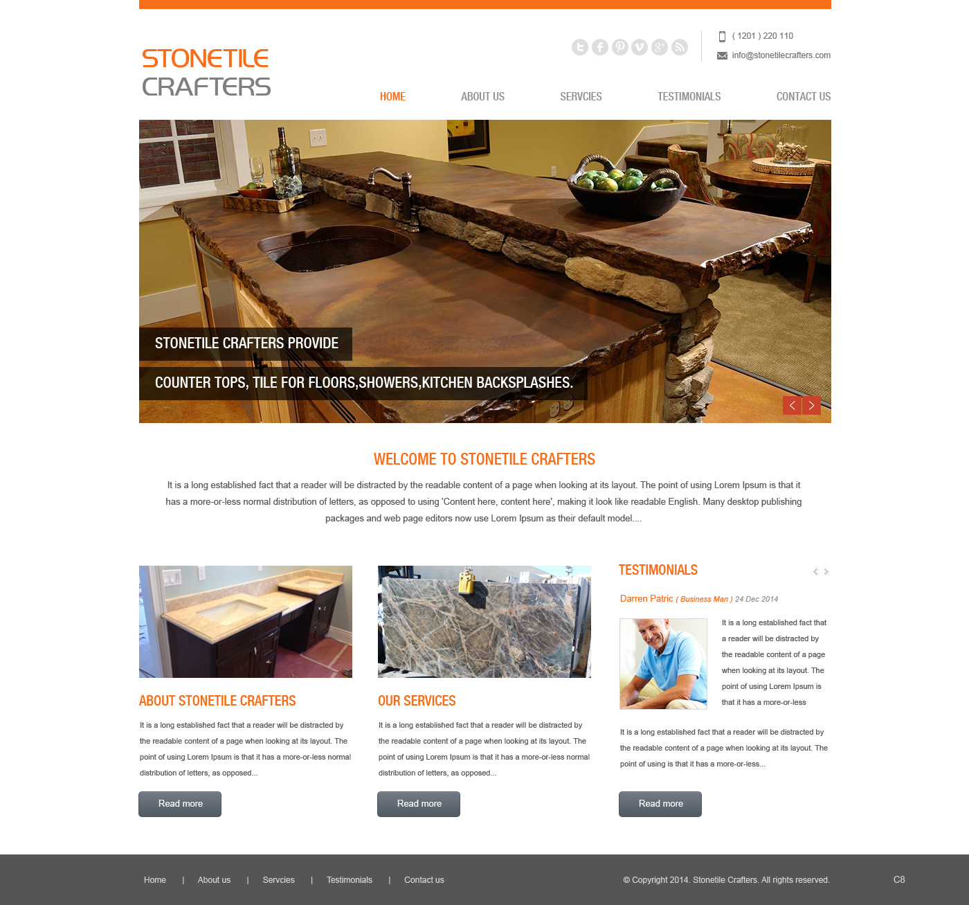 Web design for stone tile crafters by pb design 3230665 for Web design tile layout