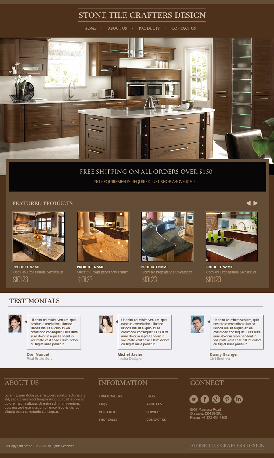 Tile web design for stone tile crafters by jeckx2 design for Web design tile layout
