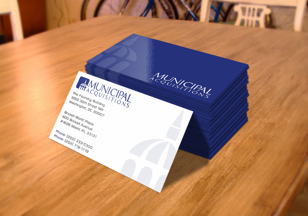 42 elegant business card designs building business card design business card design by infinitedesign for municipal acquisitions design 3217639 reheart Gallery
