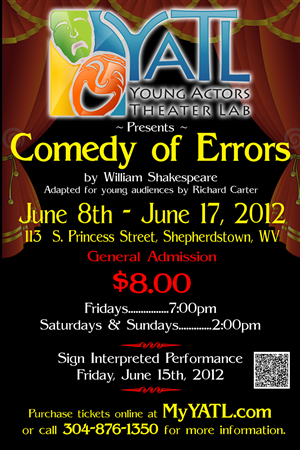 Poster Design by jmsgraphicdesign - Children's Theater Production (Comedy of Errors)