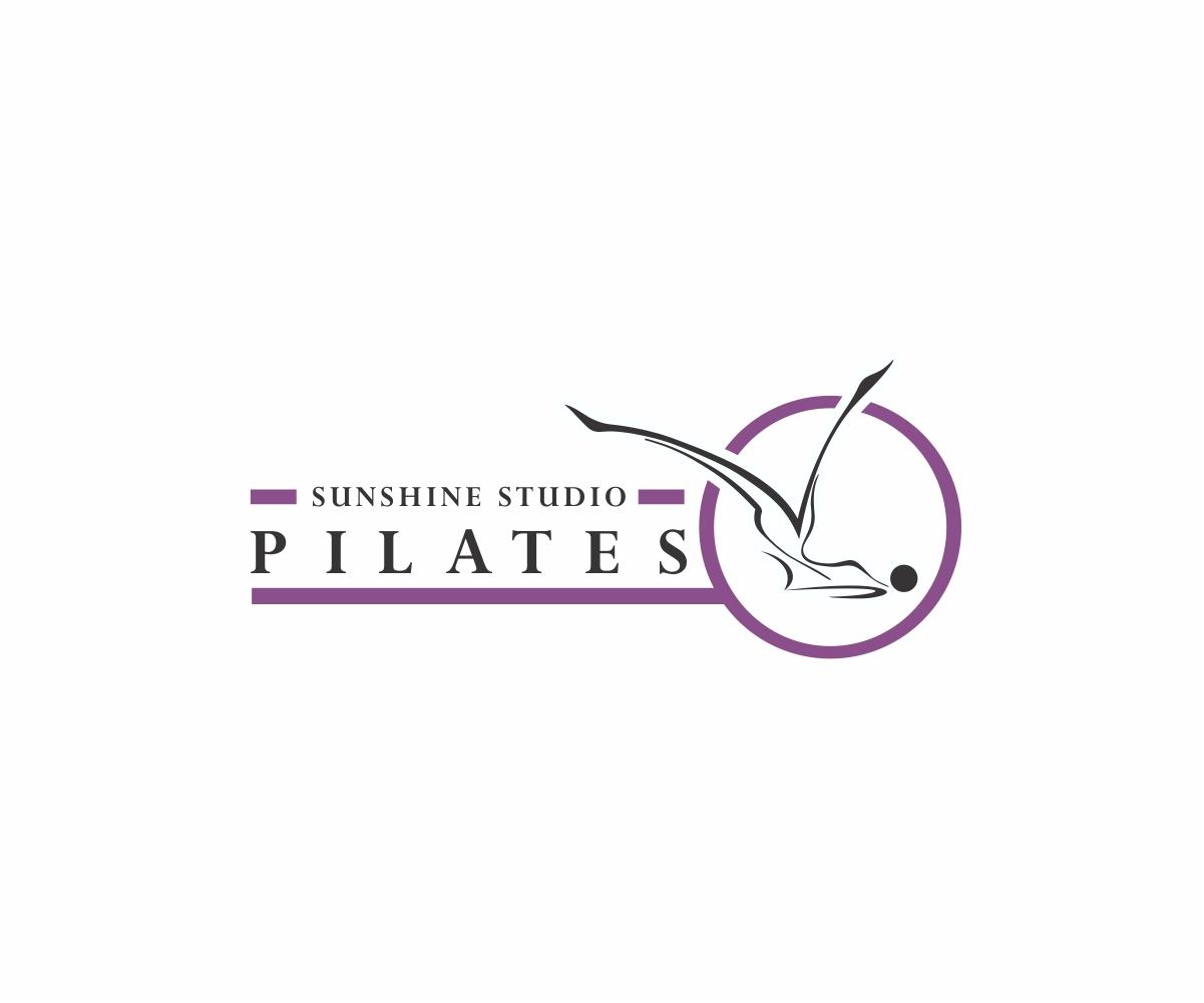 logo design for sunshine studio pilates by j mahesh