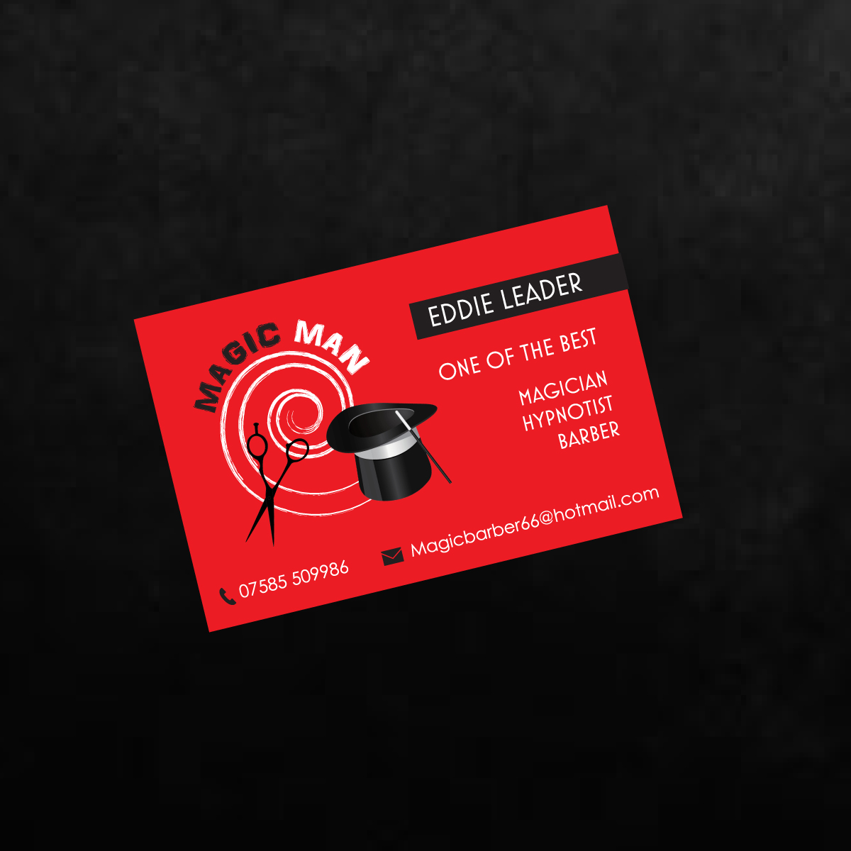 Magician Business Card Design for a Company by red rocket creative ...