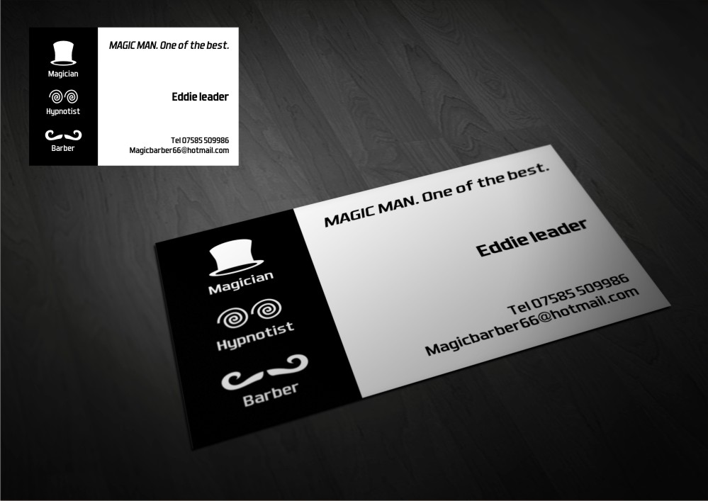 Magician Business Card Design for a Company by Amduat Design ...