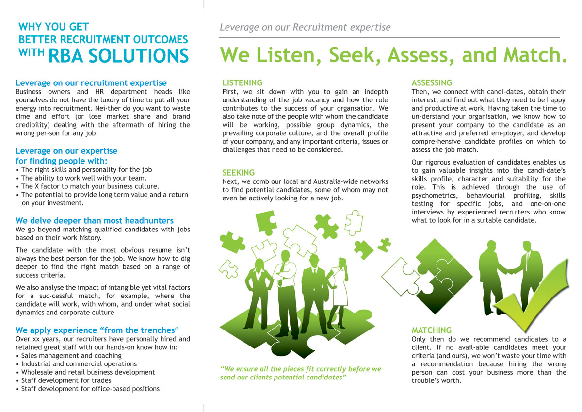 Professional, Upmarket, Recruitment Brochure Design for a