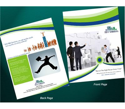 Financial Planner Typography Brochure Design 73413