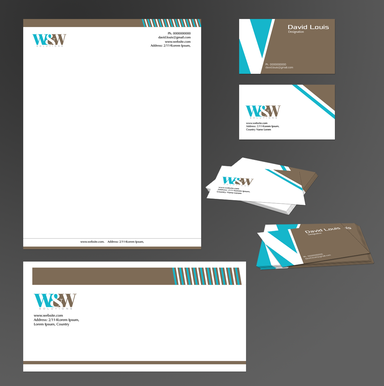 Letterhead Envelopes: Business Stationery Design For Essential Elements By