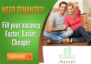 Banner Ad Design by hitame - IRentdc - Tenant Place Services