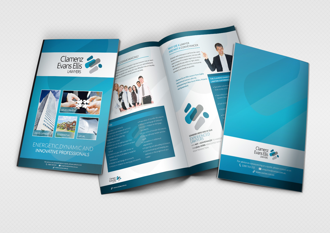 Law Firm Brochure Design for Clamenz Evans Ellis Lawyers by ...