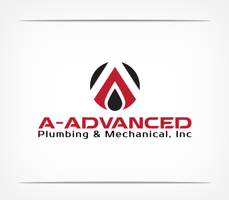 Serious Masculine Logo Design For A Advanced Plumbing