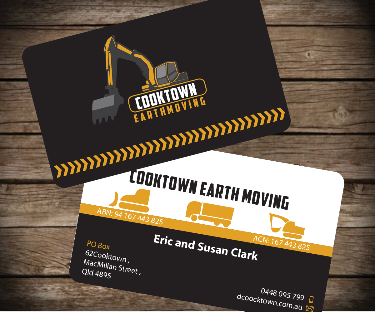 Elegant, Playful Business Card Design for Cooktown Earthmoving Pty ...