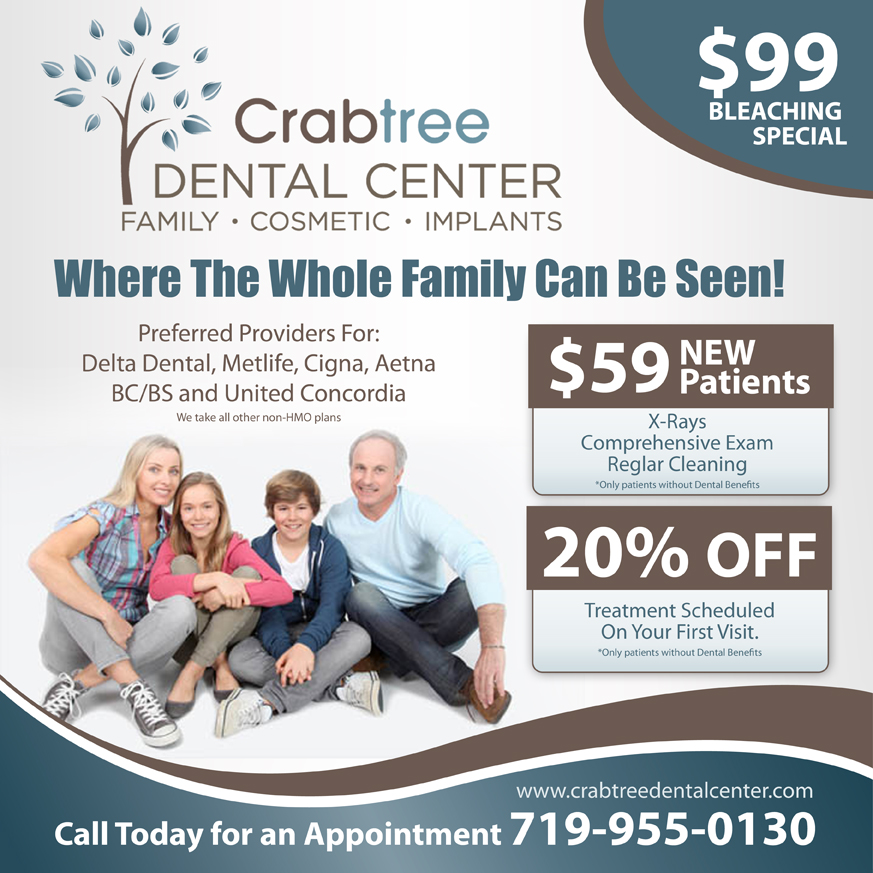 Advertisement Design By Earldesigns For Crabtree Dental Center Specials Offers
