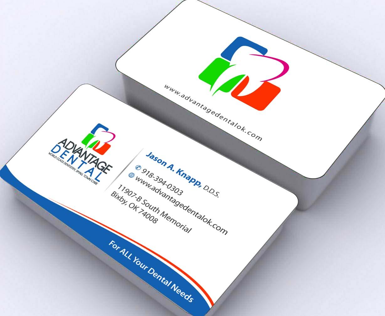 dental visiting card design