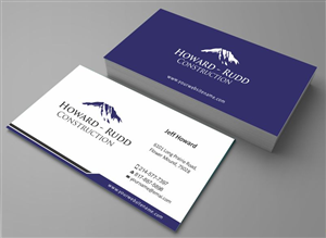 Business Card Design by zarnab - Construction Business Card Design