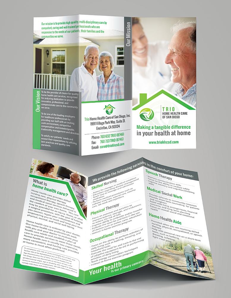 Elegant, Traditional, Home Health Care Brochure Design For