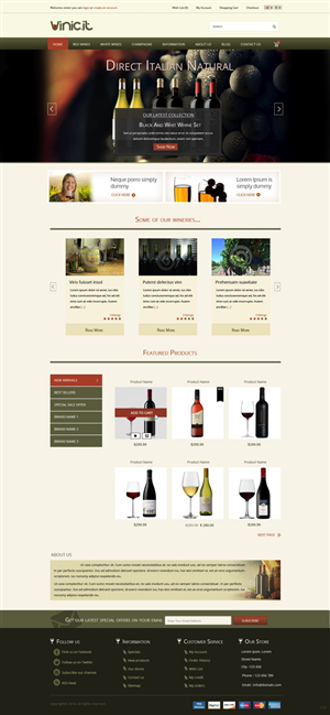 Web Design by pb -  Home and sub-home pages for an italian wines e...
