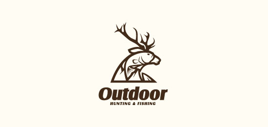 e commerce logo design for outdoorbidder com by sandrop design
