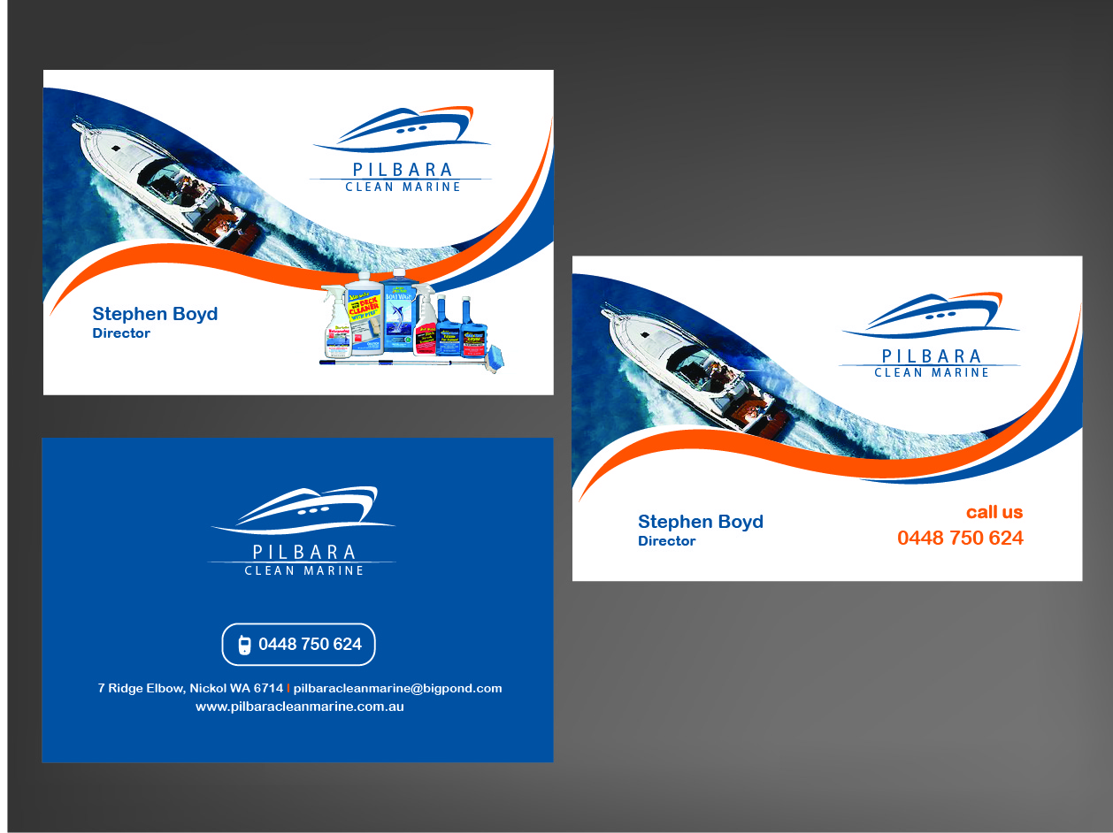 Modern professional business business card design for pilbara business card design by brigitte melissa b for pilbara clean marine design 802469 colourmoves