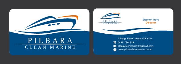 Modern professional business business card design for pilbara business card design by andrea for pilbara clean marine design 797600 colourmoves
