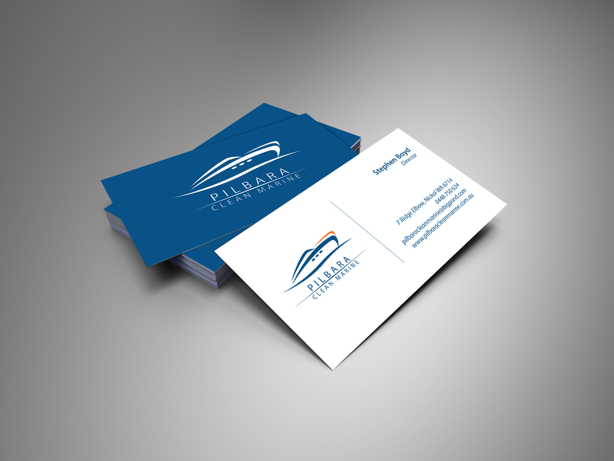 Modern professional business business card design for pilbara business card design by oguz aybar for pilbara clean marine design 796854 colourmoves