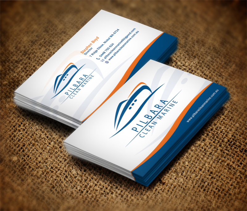 Modern professional business card design for pilbara clean marine business card design by dirtyemm for pilbara clean marine business cards design colourmoves