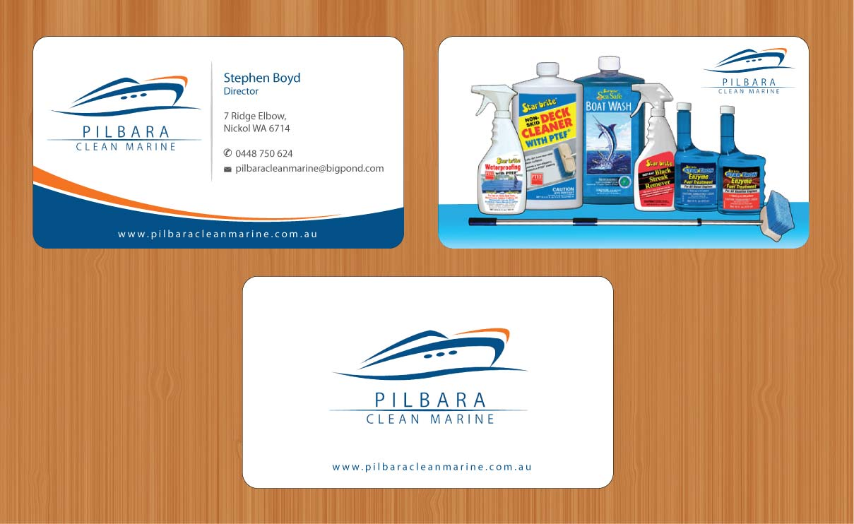 Modern professional business business card design for pilbara business card design by sbss for pilbara clean marine design 797239 colourmoves