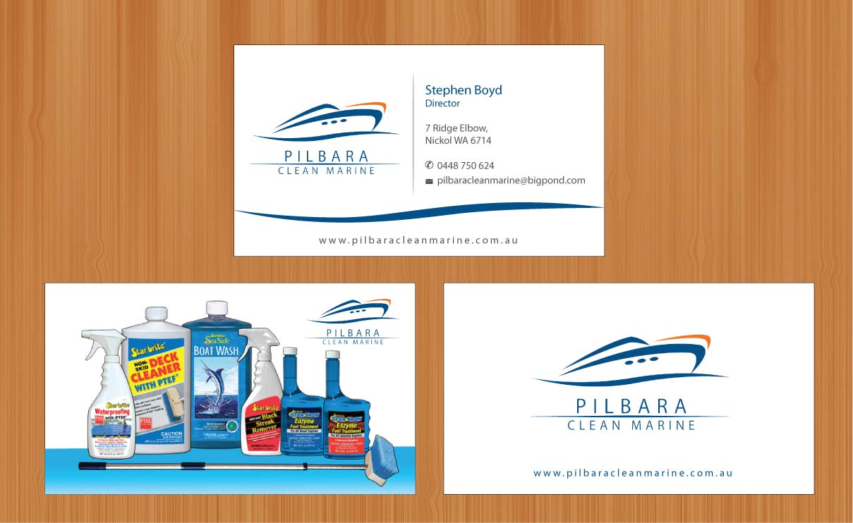 Modern professional business card design for pilbara clean marine business card design by smart for pilbara clean marine business cards design 797249 magicingreecefo Gallery