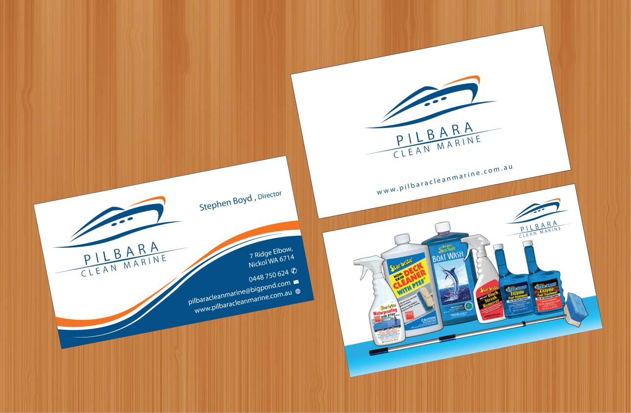 Modern professional business card design for pilbara clean marine business card design by smart for pilbara clean marine business cards design 797259 magicingreecefo Gallery