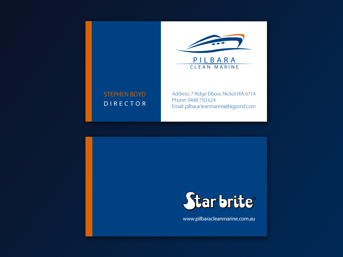 Modern professional business card design for pilbara clean marine business card design by sonya for pilbara clean marine business cards design 805165 magicingreecefo Choice Image