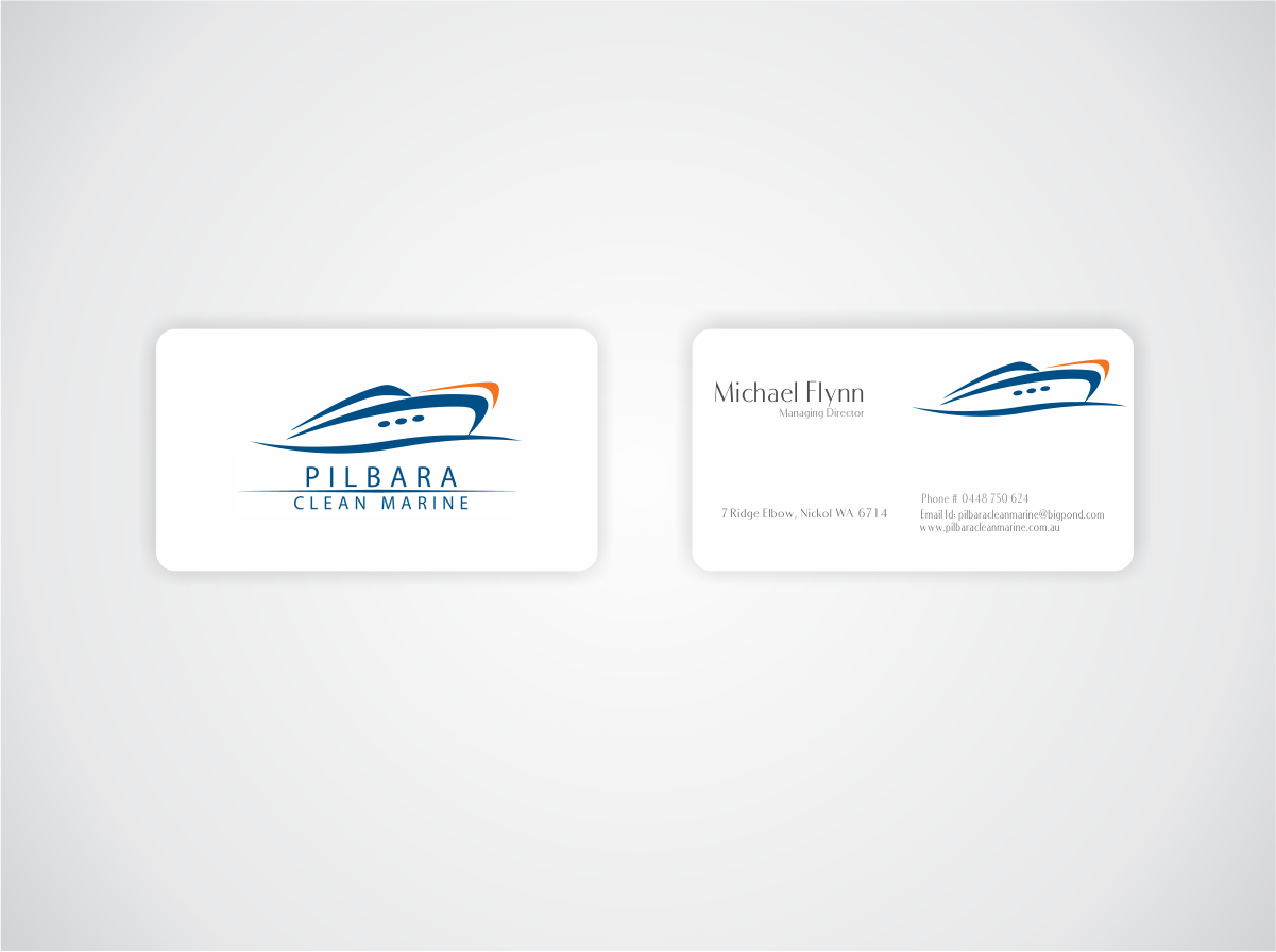 Modern professional business card design for pilbara clean marine business card design by naavyd for pilbara clean marine business cards design 795453 magicingreecefo Choice Image