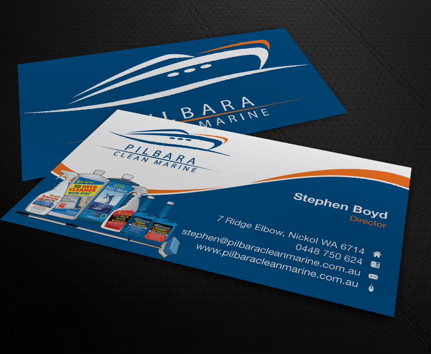 59 modern business card designs business business card design business card design by patriotu for pilbara clean marine design 805770 colourmoves