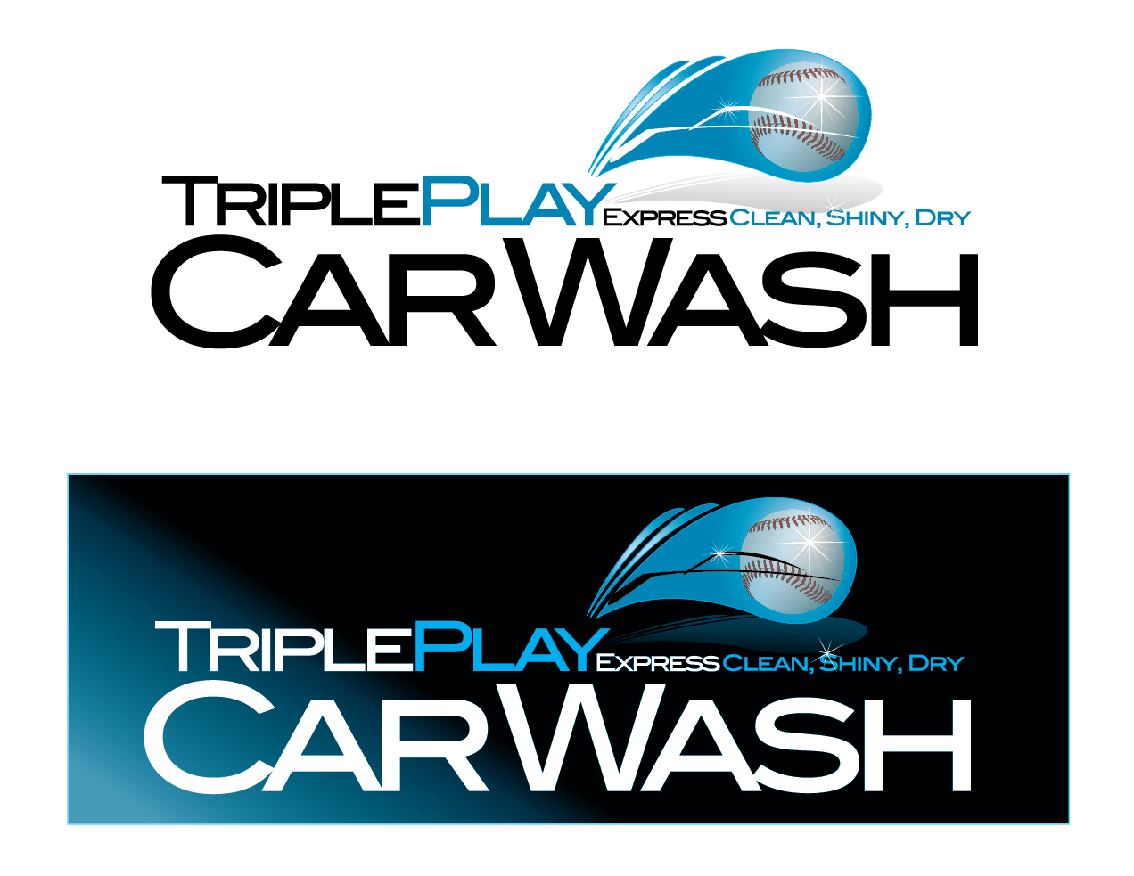 Elegant, Playful Logo Design for Triple Play Express Car Wash by ...
