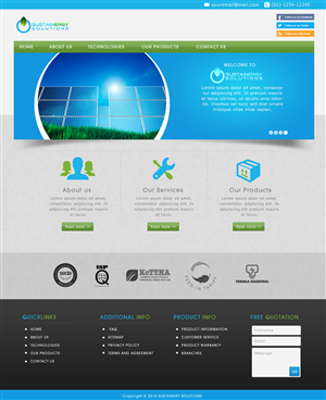Wordpress Design by JM - Renewable energy website needs a wordpress website