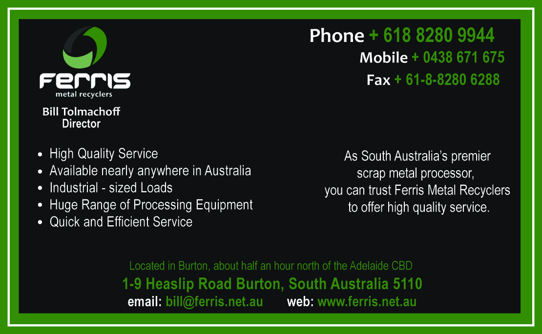 Business business card design for ferris metal recyclers by daduncan business business card design for ferris metal recyclers in australia design 3270272 reheart Choice Image
