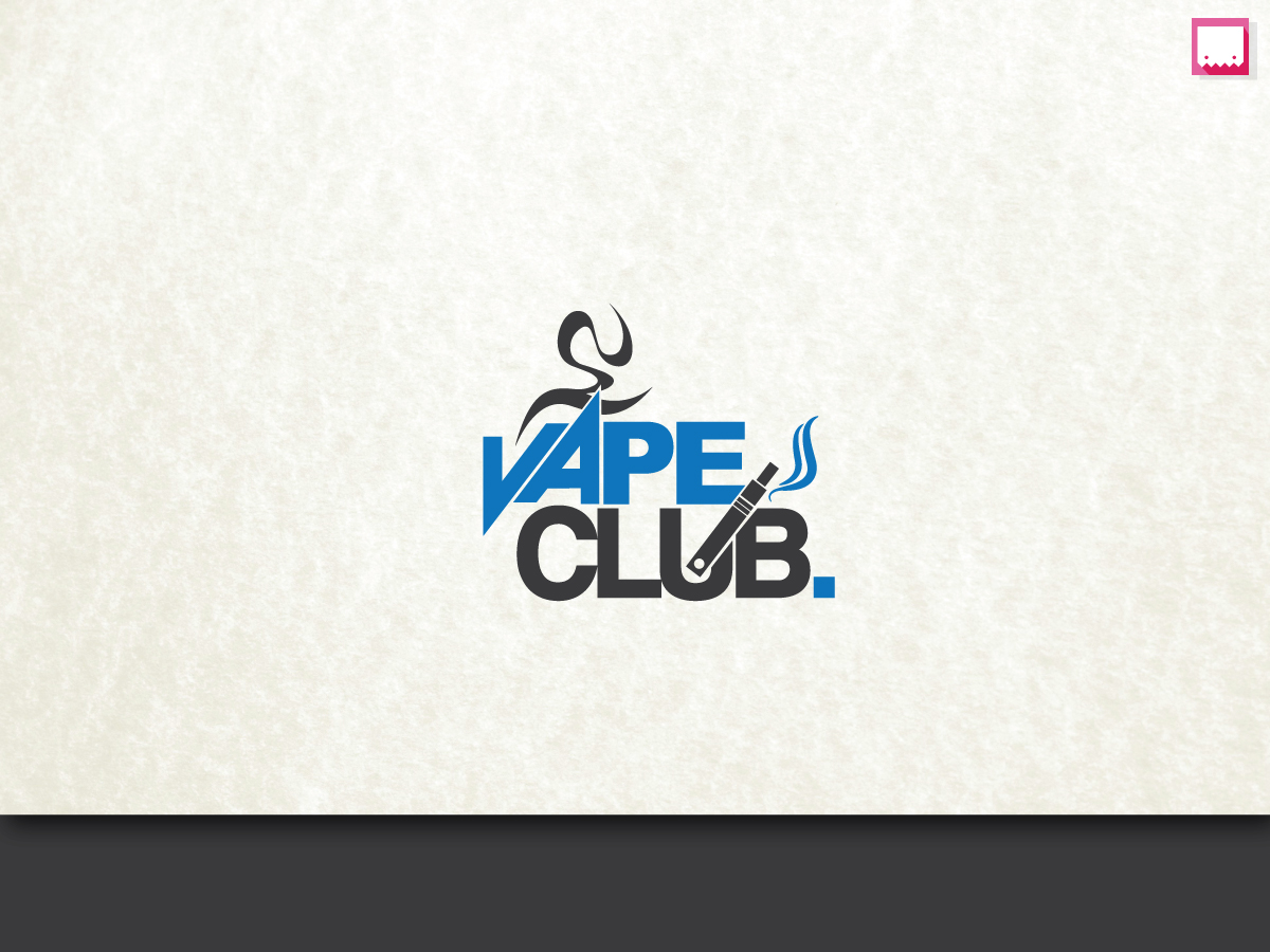 Colorful, Bold, Cigarette Logo Design for Vape Club by