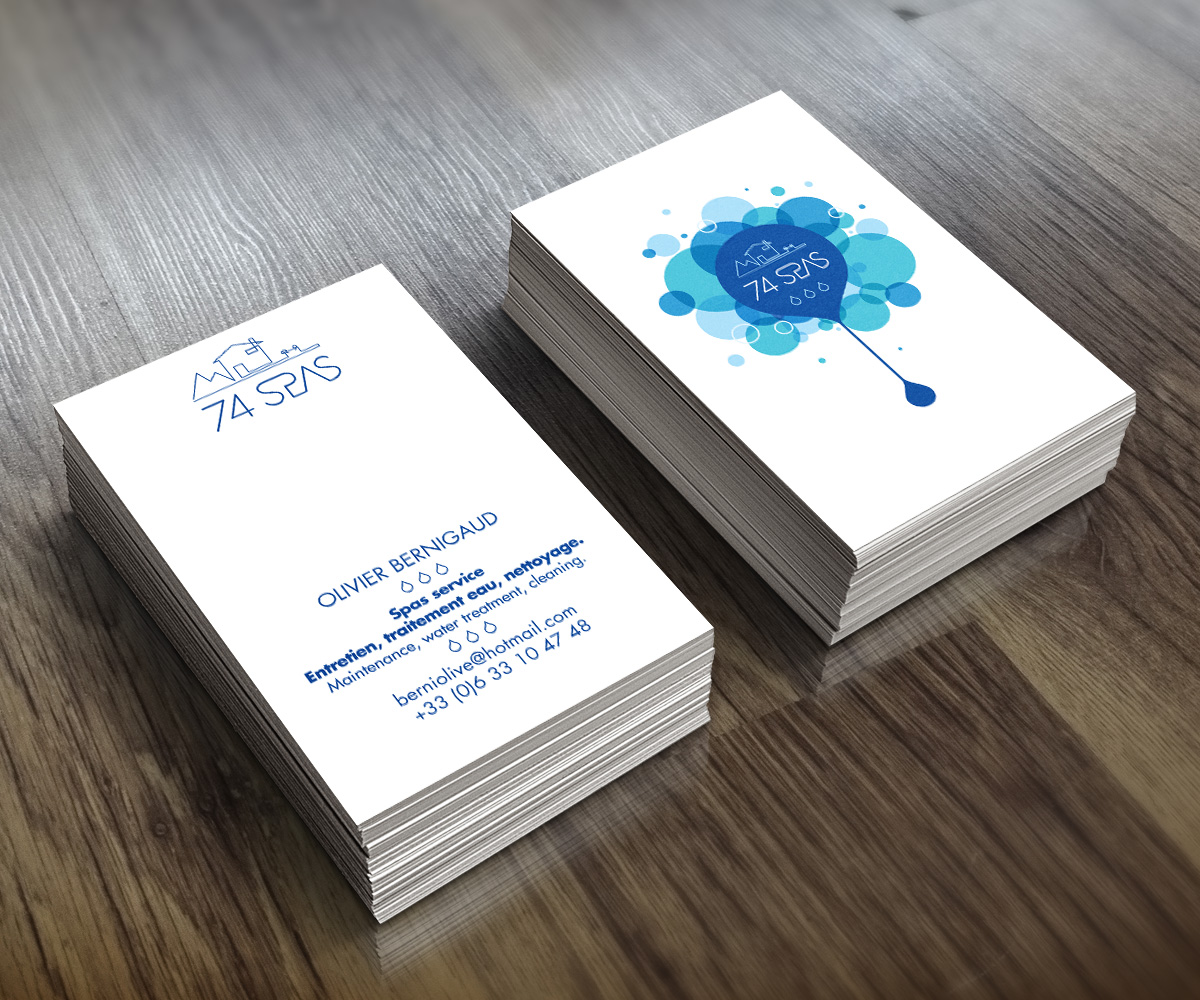 Business Card Design By Zoe Nb For Hot Tub Spas Service Needs An