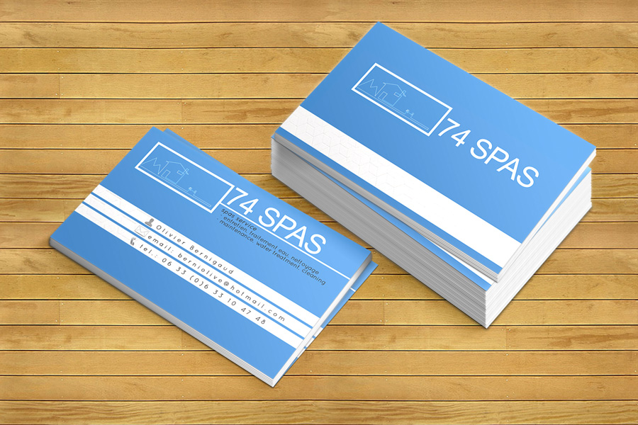 Business Card Design By Isabel Paoli For Hot Tub Spas Service Needs An