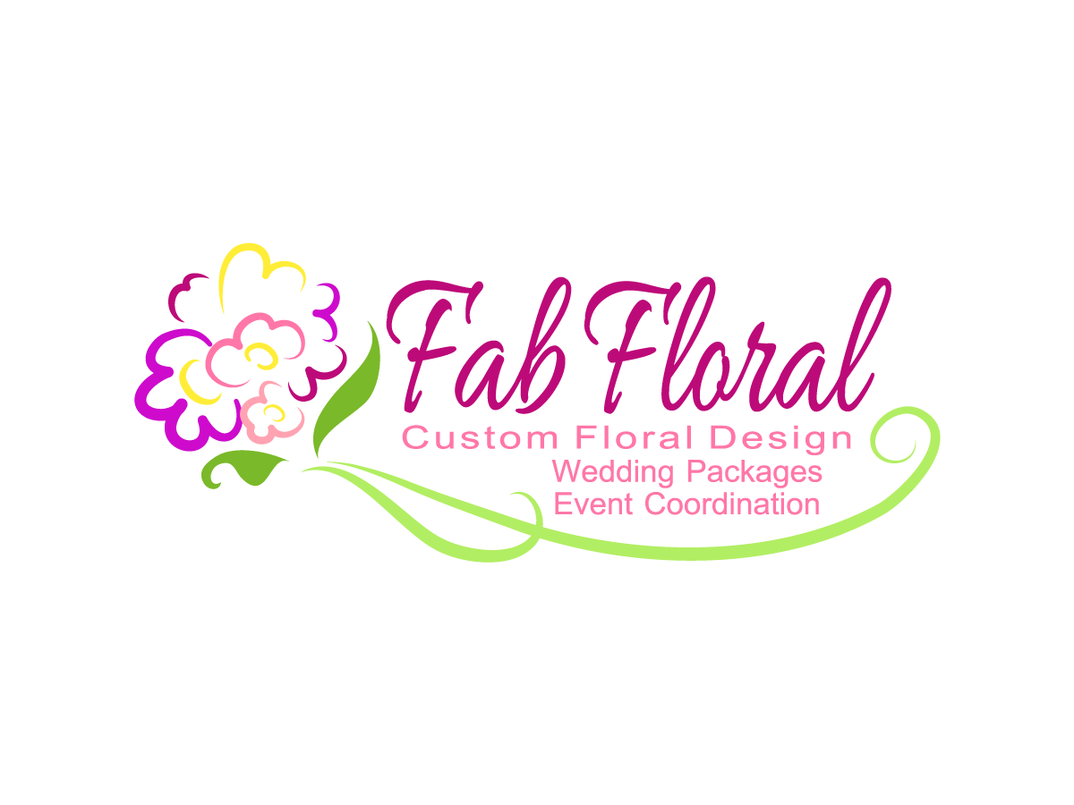 Elegant Feminine Event Planning Logo Design For Fab Floral